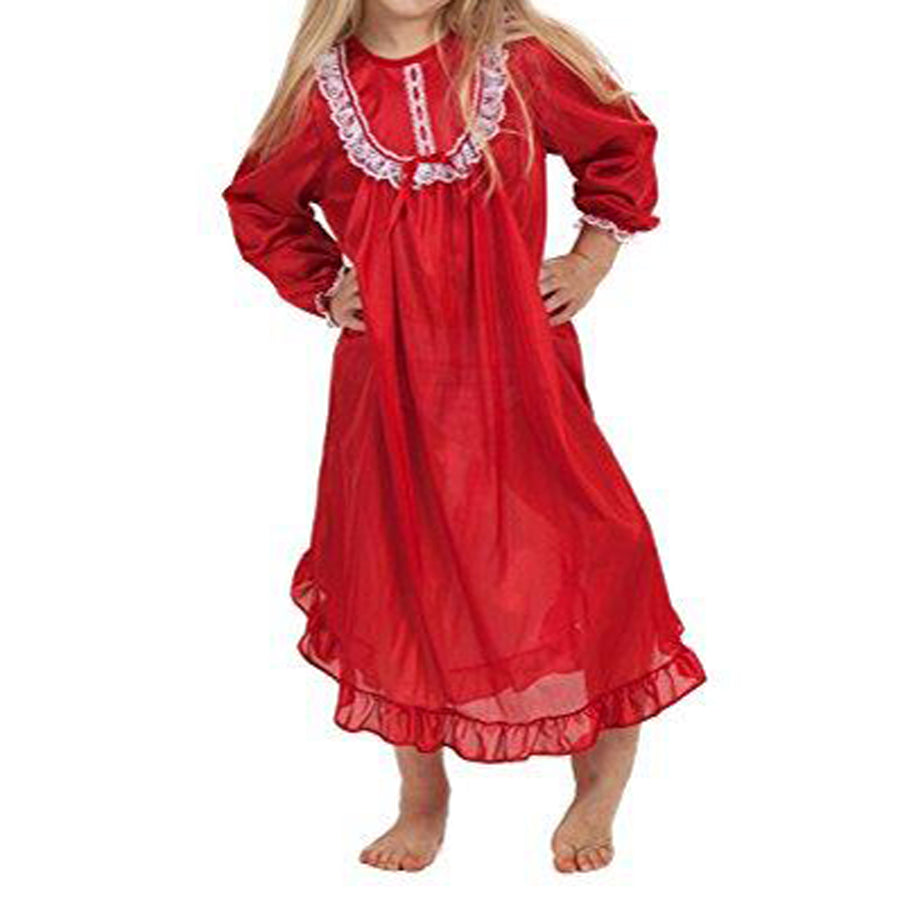 Red Nylon Nightgown