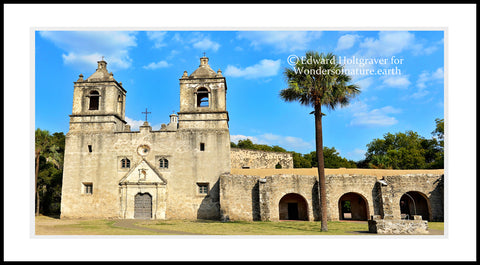 "Mission Concepcion in San Antonio 20"" x 40"""