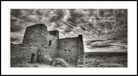 "Arizona ruins with Clouds 20"" x 40"""