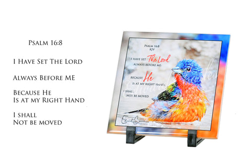 Painted Bunting / Psalm 16:8