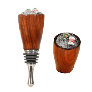 Wine Stopper with Beer Cans in Ice