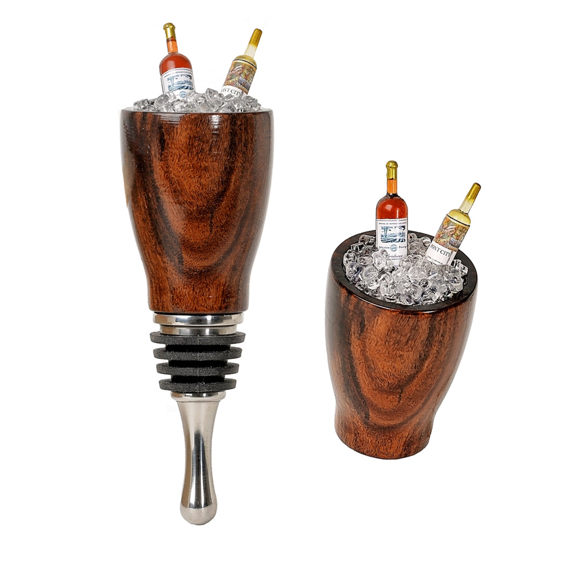Wine Stopper with Wine Bottles in Ice