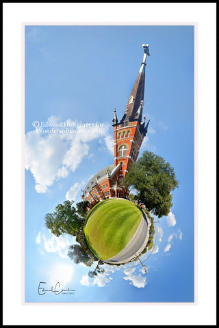 "Catholic Church in Shiner, Texas  20"" x 30"""