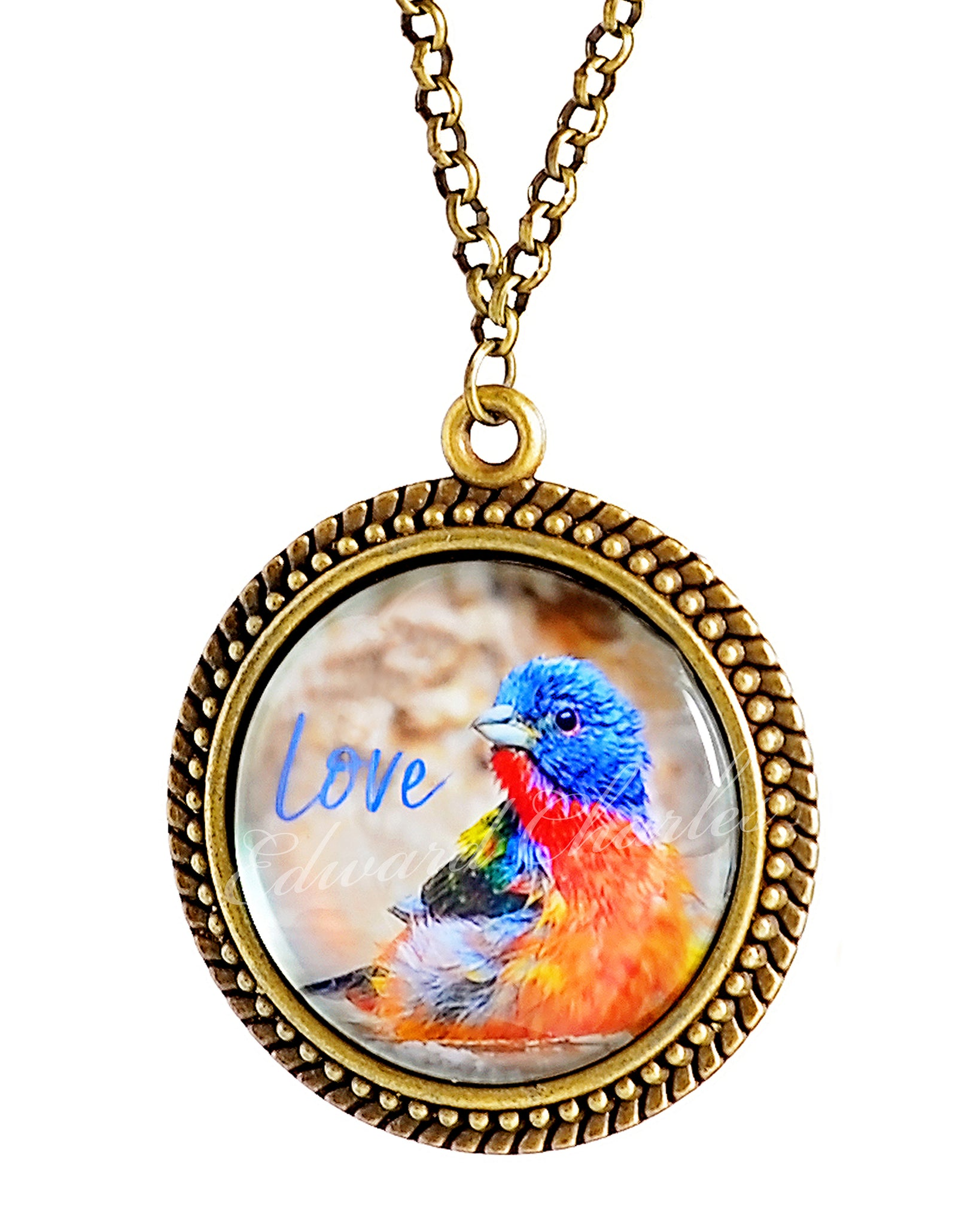Painted Bunting Pendant