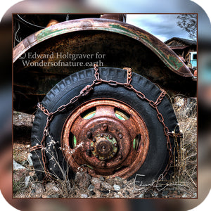 Rust - Chained Truck Tire