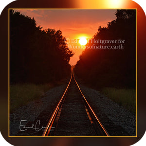 Structures - Train Tracks at Sunset