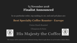 EUROPEAN COFFEE AWARDS 2018