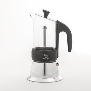 GLASS Moka Pot induction
