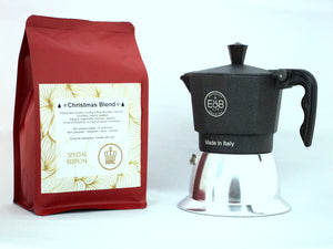 Christmas Blend and Moka Pot 3t induction BUNDLE