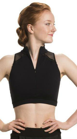 Bryn Zip Front Crop Top