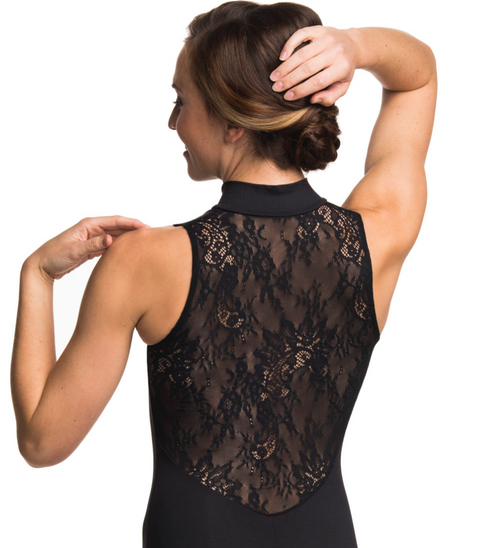 Zip Front Bodysuit with Kara Lace