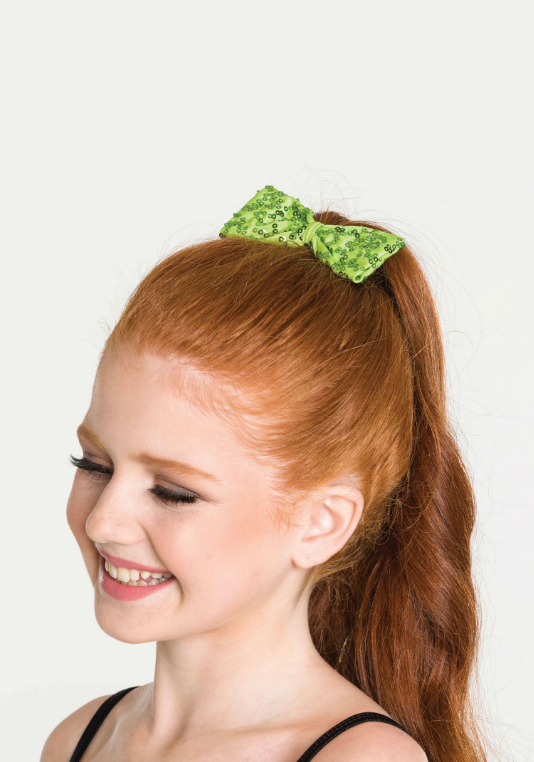 Sequin Hair Bow - Small