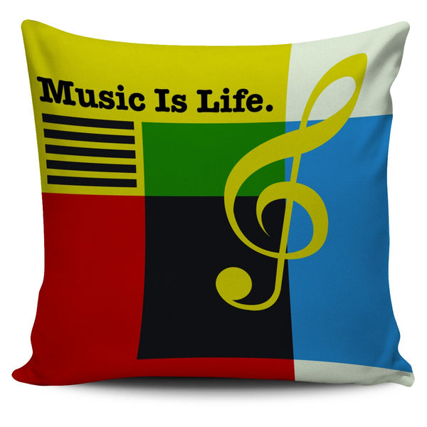 Music Is Life Colour Cube Pillow Cover