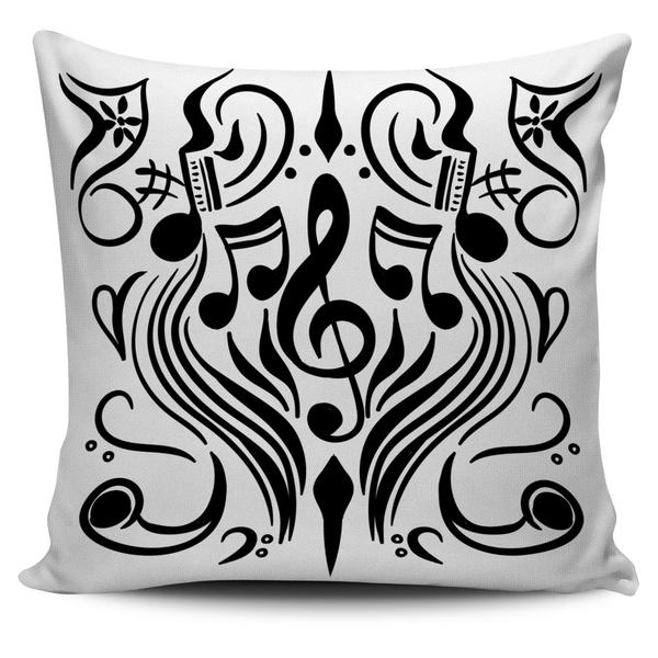 Art Nouveau Music Notes Pillow Cover