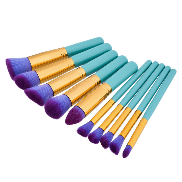 10pcs Makeup Brush Tools - PEARLY MUSIC