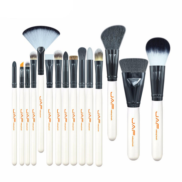 15 PCS Makeup Brush Set White Handle - PEARLY MUSIC