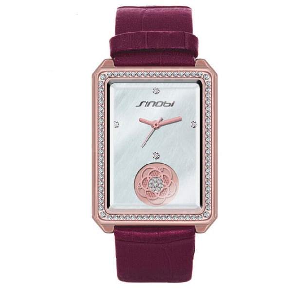 Fashion Luxury Rectangular ladies watch - PEARLY MUSIC