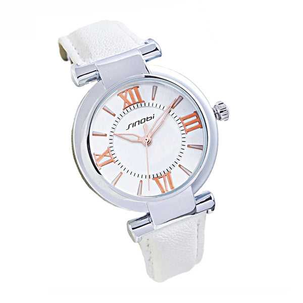 Ladies Waterproof Leather Watch - PEARLY MUSIC