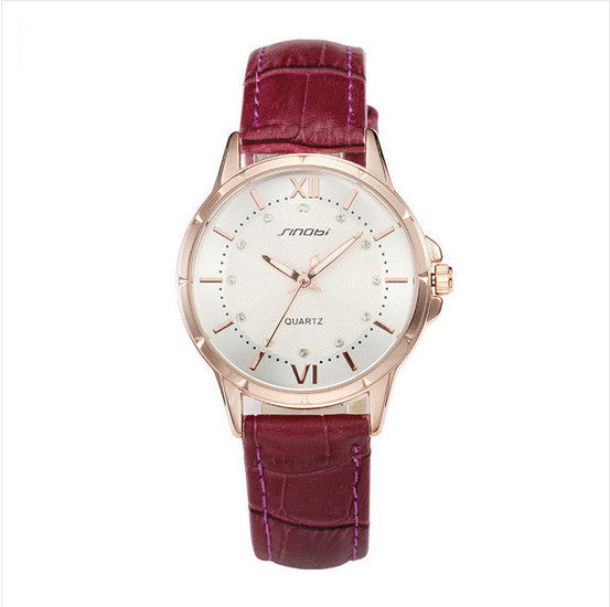 Luxury Fashion Watch Crystal & Leather - PEARLY MUSIC