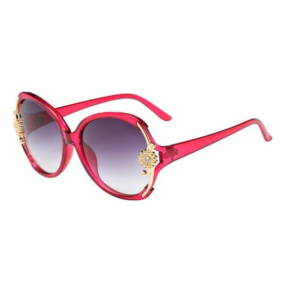 Women Flower Decoration  Sunglasses