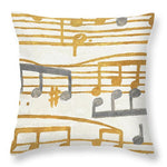 Music Stanzas II Throw Pillow - PEARLY MUSIC