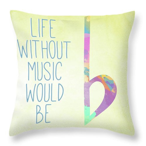 Watercolor Music IIi Throw Pillow - PEARLY MUSIC
