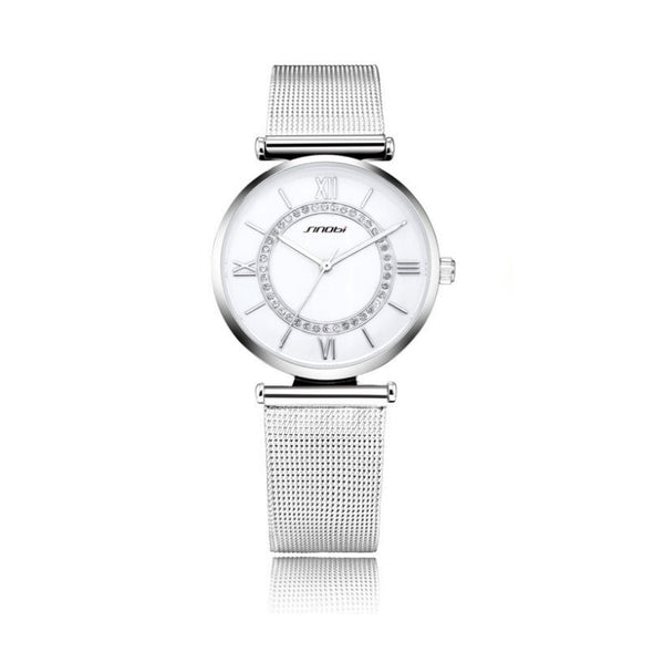 Luxury Stainless Steel Watch - PEARLY MUSIC