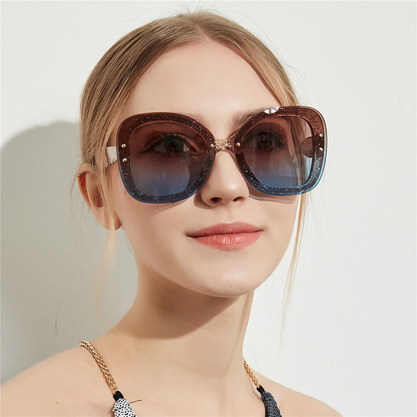Oversize Sunglasses Transparent Frame