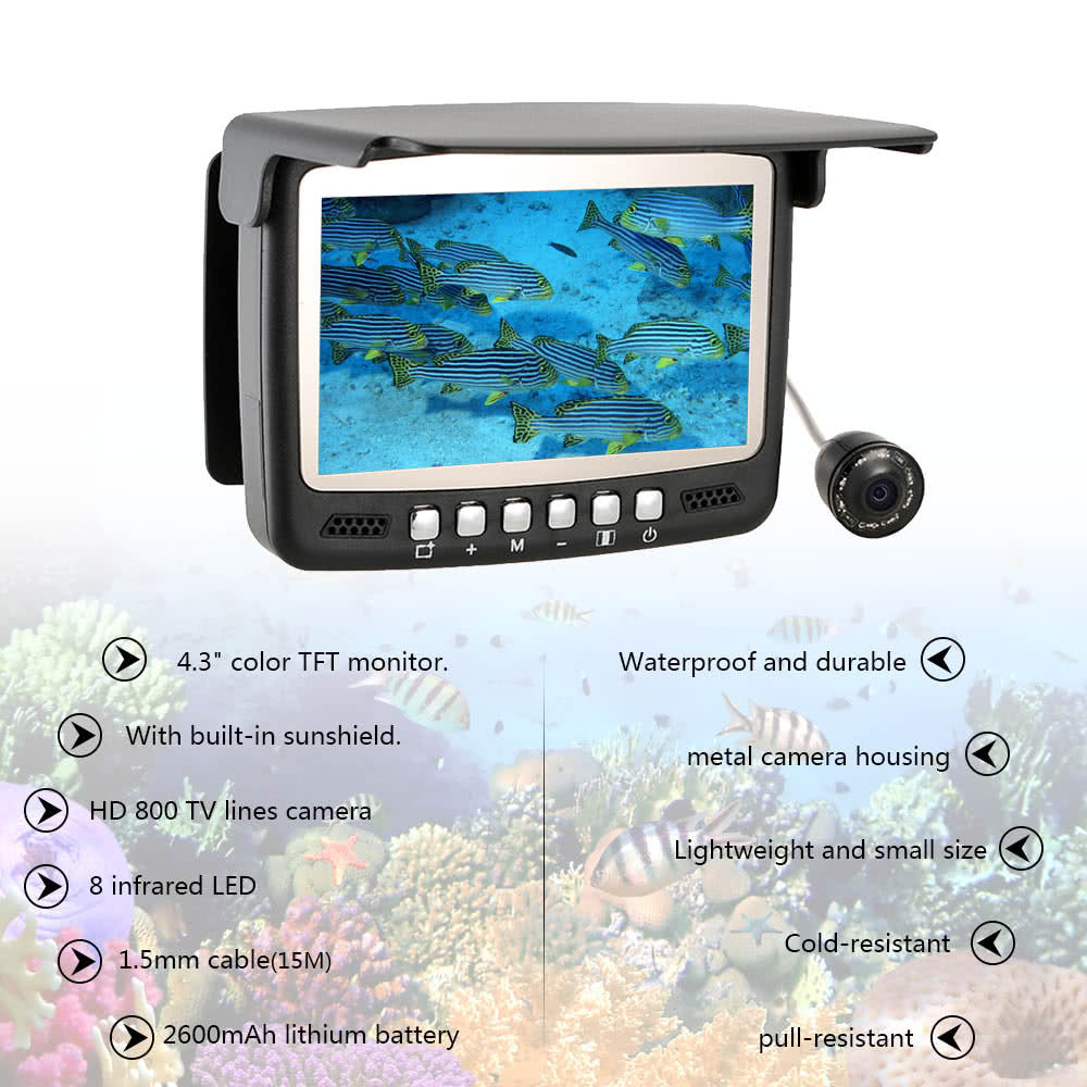 HD Underwater Fishing Camera 15M Cable Fish Finder Night Vision - Santas Gadget Helper