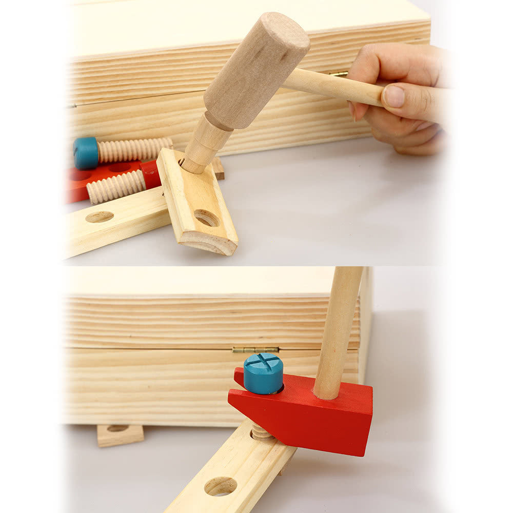 Wooden Carpenter's Tool Set Toy Set For Kids