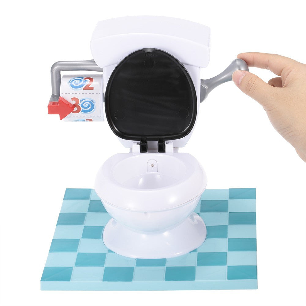 Spray Water Toilet with Flush Sound Effects Game for Child and Parents - Santas Gadget Helper