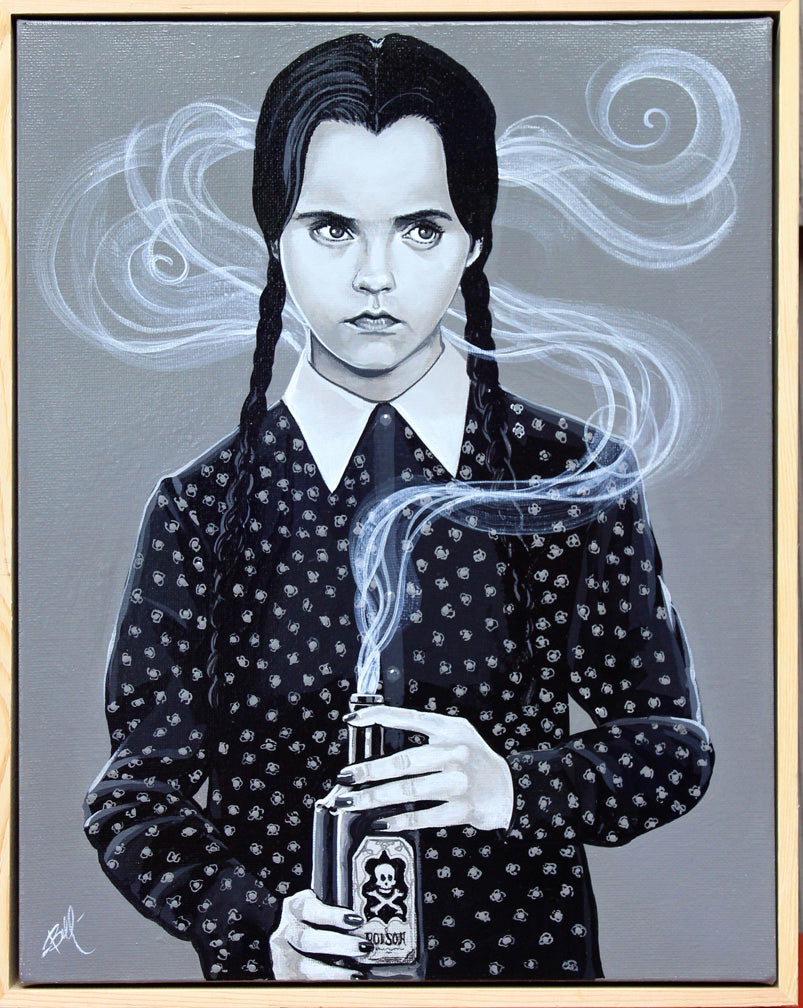 Dark_Art_Low_Brow_Wednesday_Addams_Mike_Bell_Painting