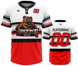 KitBeast Grizzlie 2 Button Jersey
