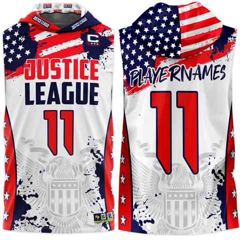 USA Justice League Dri-Fit Hooded Jersey