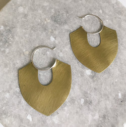 Brass shield hoops