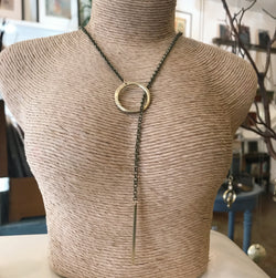 Brass Lariat necklace