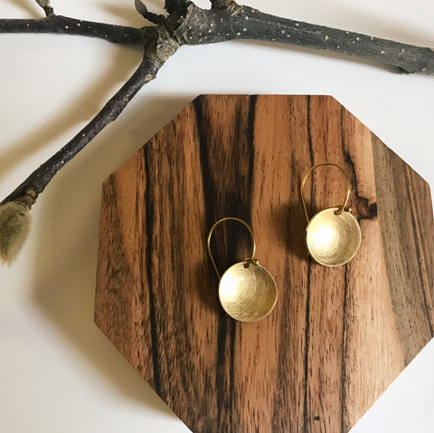 Small bowl earrings