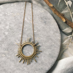Brass Sunburst necklace