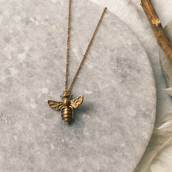 Save the bees! Bronze necklace