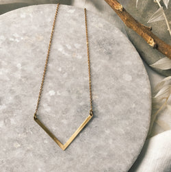 Simple Chevron drop necklace