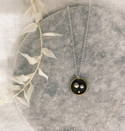 3 silver dot necklace