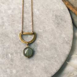Aventurine drop necklace