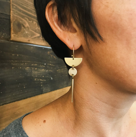 Geo dangle drop earrings