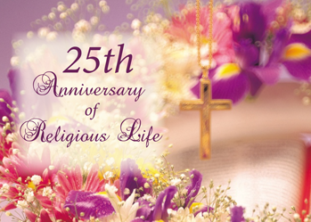3992 25th Anniversary Religious Life Flowers