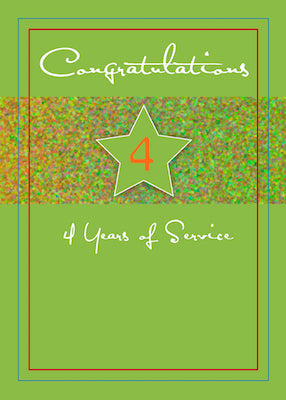 3988A 4 Years Employee Anniversary, Service Star