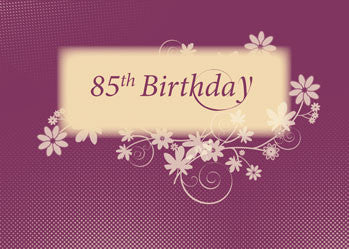 51708 85th Birthday Wine Color