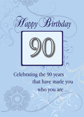 51709 90th Birthday Blue and Silver