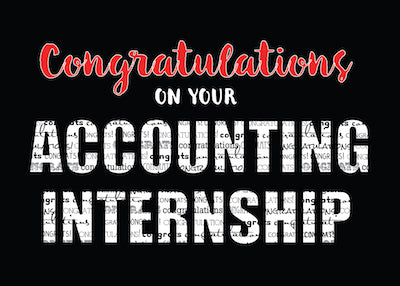 52211A Accounting Internship Congratulations