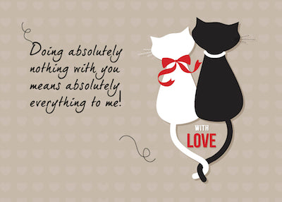51878A  Anniversary Cats in Love, Valentine's Day