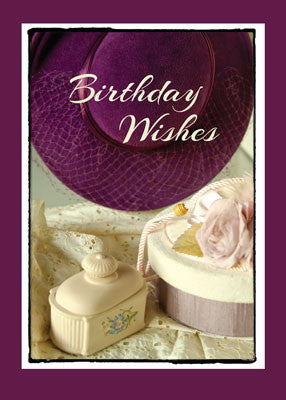 51840 Vintage Purple Hat Birthday